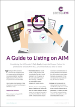 A Guide to Listing on AIM