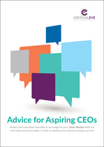 Advice for Aspiring CEOs
