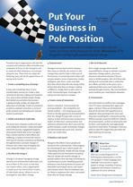 Put Your Business in Pole Position