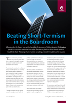 Beating Short-Termism in the Boardroom