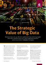 The Strategic Value of Big Data