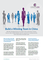Build a Winning Team in China