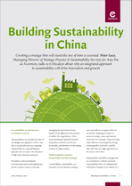 Building Sustainability in China