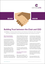 Building Trust between the Chair and CEO