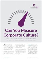 Can You Measure Corporate Culture?