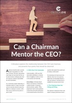 Can a Chairman Mentor the CEO?