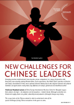 New Challenges for Chinese Leaders