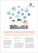 Corporate Culture and the Board