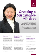 Creating a Sustainable Mindset - Cecilia Ho