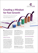Creating a Mindset for Fast Growth