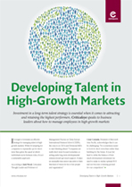 Developing Talent in High-Growth Markets