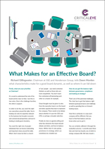 What Makes for an Effective Board?