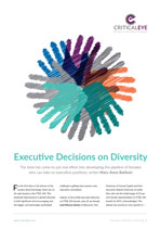 Executive Decisions on Diversity