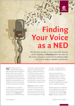 Finding Your Voice as a NED