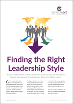 Finding the Right Leadership Style