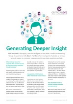 Generating Deeper Insight