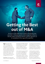 Getting the Best out of M&A