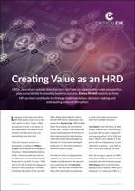 Creating Value as an HRD