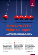 How New CEOs Make an Impact