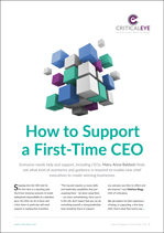 How to Support a First-Time CEO
