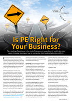 Is Private Equity Right for Your Business?