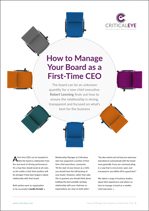 How to Manage Your Board as a First-Time CEO