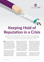 Keeping Hold of Reputation in a Crisis