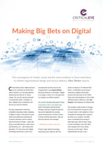 Making Big Bets on Digital