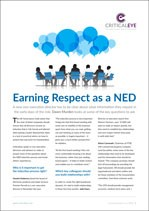 Earning Respect as a NED
