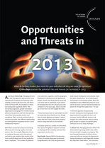 Opportunities and Threats in 2013