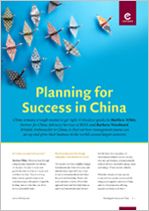 Planning for Success in China