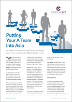 Putting Your A Team into Asia