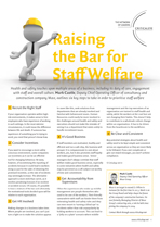Raising the Bar for Staff Welfare
