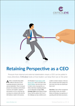 Retaining Perspective as a CEO