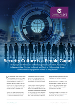 Security Culture is a People Game