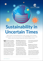 Sustainability in Uncertain Times