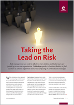 Taking the Lead on Risk
