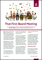 That First Board Meeting