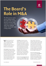 The Board's Role in M&A