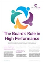 The Board's Role in High Performance
