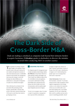 The Dark Side of Cross-Border M&A