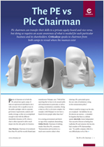 The PE vs Plc Chairman