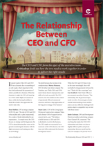 The Relationship Between CEO and CFO