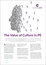 The Value of Culture in PE