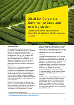 2018 UK Corporate Governance Code and New Legislation