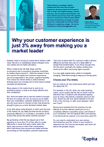 The Customer Experience 3%