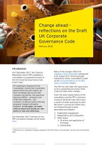 Change Ahead: Reflections on the Draft UK Corporate Governance Code