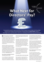 What Next for Directors' Pay?