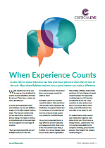 When Experience Counts