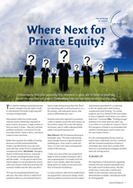 Where Next for Private Equity?